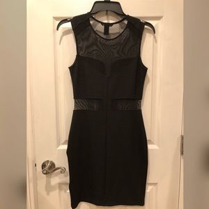 H&M Black Dress with sheer cut outs.